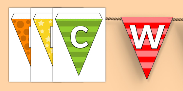Welcome to Nursery Bunting Multicoloured - nursery, welcome to nursery, bunting, themed bunting, display bunting, bunting flags, flag bunting, cut outs