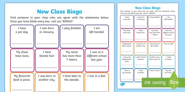 picture regarding Back to School Bingo Printable identify Changeover Online games: Clean Cl Bingo