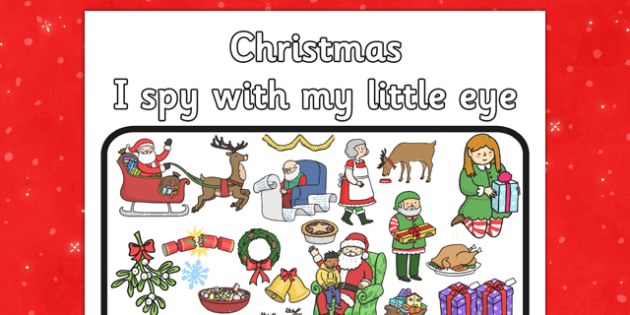 I Spy With My Little Eye Christmas Activity - I spy, little eye, christmas, activity