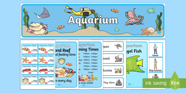 The Aquarium Role Play Pack-aquarium, role play, aquarium pack, role play pack, role play materials, aquarium role play, activities, games