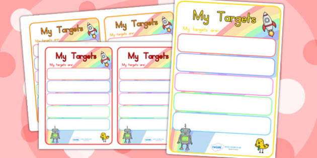 Editable Target Learning Objective Book Labels - book, labels
