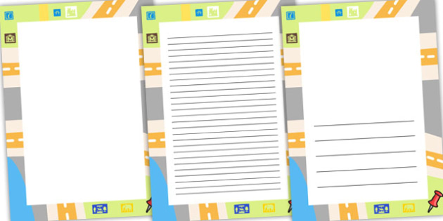 Geography Page Borders - geography, writing template, borders