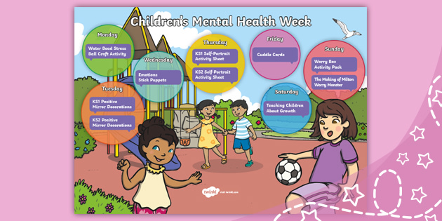 Free Children S Mental Health Week Calendar
