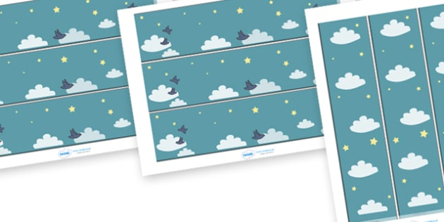 Display Borders to Support Teaching on The Blue Balloon - blue balloon, story, the blue balloon, Mick Inkpen, display border, classroom border, border, flying balloon, soggy balloon, up, story book, story resources