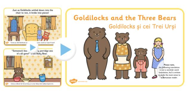 Goldilocks Three Bears Story PowerPoint EAL Romanian Translation