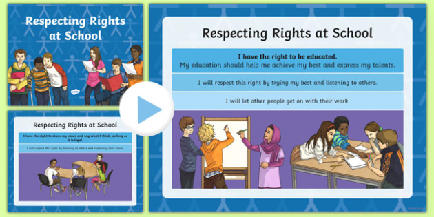 Respecting Rights at School PowerPoint - respecting rights, school, powerpoint, respect, rights, school rights