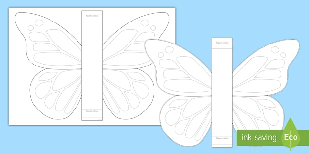 Make Your Own Butterfly Wings Worksheet / Activity Sheet - The Crunching Munching Caterpillar, Sheridan Cain, life cycle of a butterfly, cretive development, W