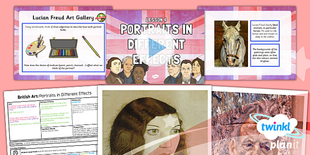 Art: British Art: Portraits in Different Effects LKS2 Lesson Pack 4