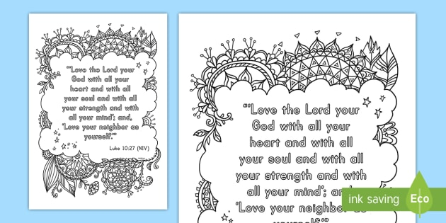 Luke 1027 Mindfulness Coloring Page