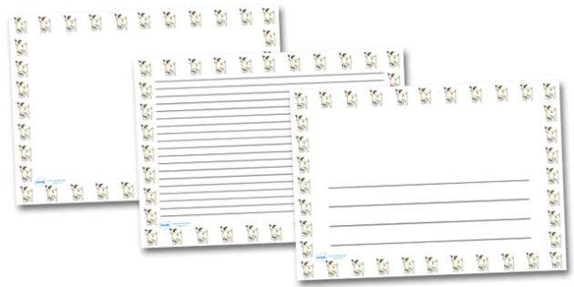Baby Goat Landscape Page Borders- Landscape Page Borders - Page border, border, writing template, writing aid, writing frame, a4 border, template, templates, landscape