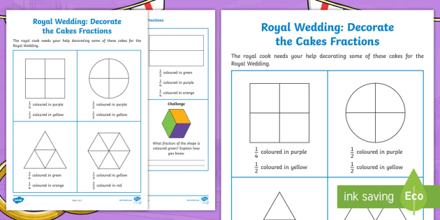 new  decorate the cakes halves and quarters fractions worksheet  new  decorate the cakes halves and quarters fractions worksheet  prince  harry and meghan