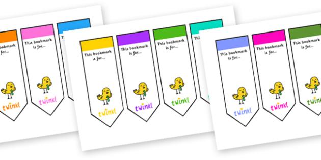 Editable Blank Bookmarks - Bookmark, bookmark template,  gift,  present, book, reward, achievement
