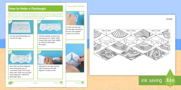 Ks1 Seaside Flextangle Paper Craft Sea Patterns Year 1 Year