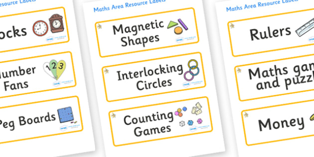 Angel Fish Themed Editable Maths Area Resource Labels - Themed maths resource labels, maths area resources, Label template, Resource Label, Name Labels, Editable Labels, Drawer Labels, KS1 Labels, Foundation Labels, Foundation Stage Labels, Teaching