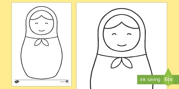 Doodle Draft Russian Doll Worksheet / Activity Sheet