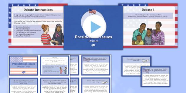 Presidential Issues Debate Pack - usa, america, presidential issues, debate, pack
