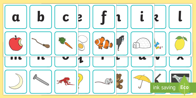 Free Alphabet Matching Picture Card Game Game
