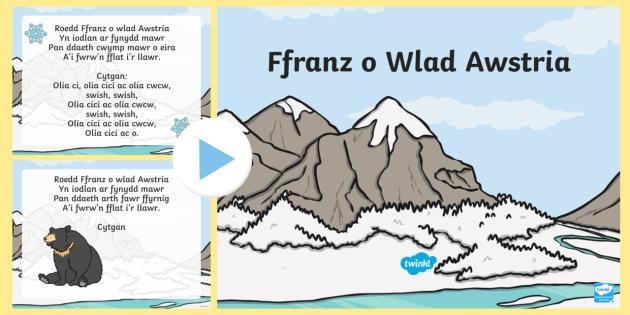 Ffranz from Austria Song Lyrics - Welsh Second Language Songs and Rhymes, Welsh,Songs, Welsh.,Welsh