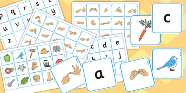 British Sign Language Alphabet Matching Pack - alphabet, match