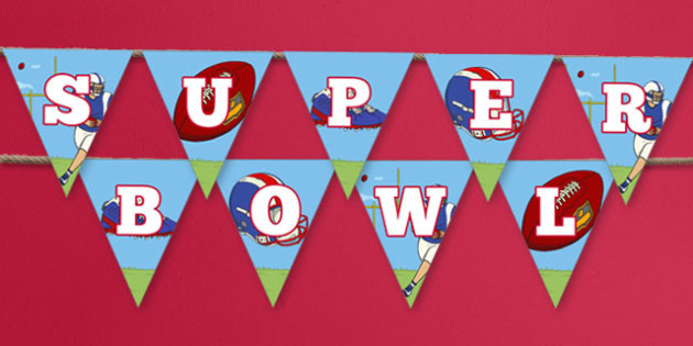 Super Bowl Bunting - usa, super bowl, bunting, display bunting, display