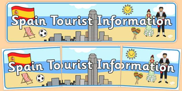 Spain Tourist Information Display Banner - spain, tourist, information, display banner, display, banner