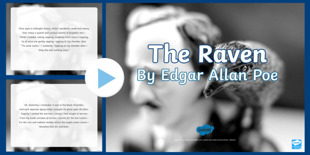 The Raven Edgar Allan Poe Poem PowerPoint - KS2 Poetry