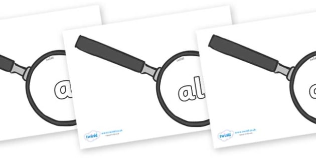 Foundation Stage 2 Keywords on Magnifying Glass - FS2, CLL, keywords, Communication language and literacy,  Display, Key words, high frequency words, foundation stage literacy, DfES Letters and Sounds, Letters and Sounds, spelling
