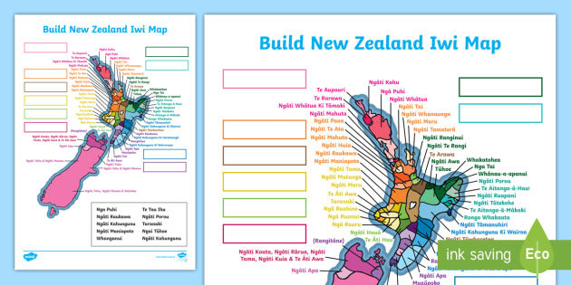 New Zealand Maori Map.Nz Iwi Map Maori Regions