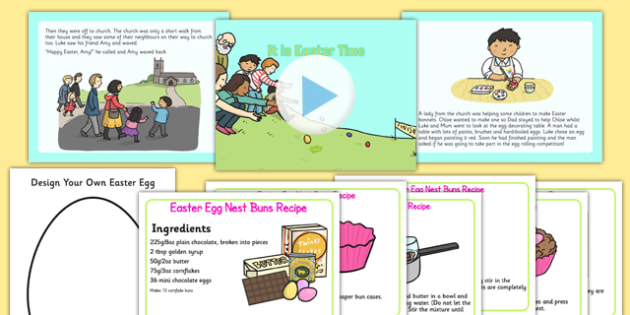 It Is Easter Time EYFS Story and Resource Pack - EYFS, KS1, Early Years, festival, celebration, Understanding the World, Literacy, Christianity