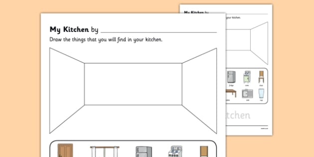 My Kitchen Aistear Follow On Worksheet - gaeilge, my kitchen, aistear, follow on