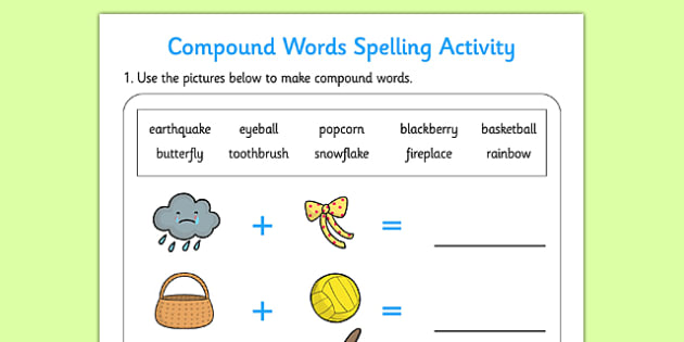 Compound Words Activity - compound, words, activity, activities