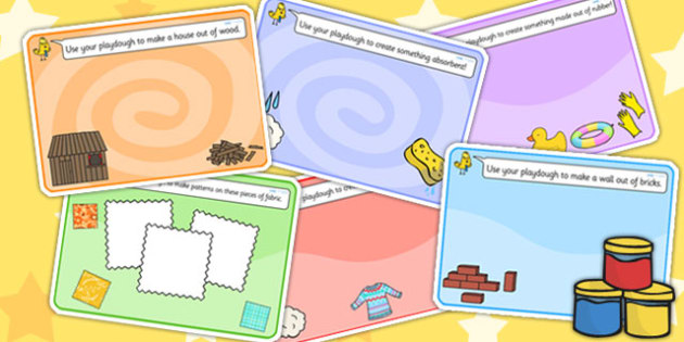 Materials Playdough Mats - materials, playdough, motor skills