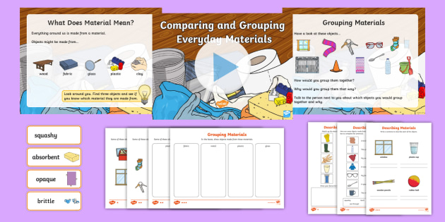 KS1 Paring And Grouping Everyday Materials Activity
