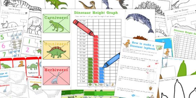 Dinosaur Lapbook Creation Pack - australia, dinosaur, lapbook