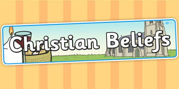 Christian Beliefs Display Banner - Christian, beliefs, display