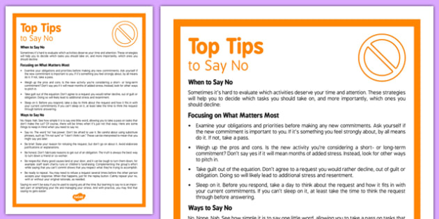 Care Staff Top Tips How to Say No - care staff, top tips, how to say no, care, staff