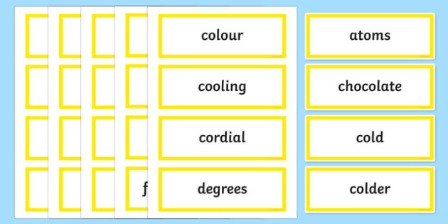 Melting Moments Word Wall Display Cards - australia, Australian Curriculum, Melting Moments, science, Year 3, word wall, display