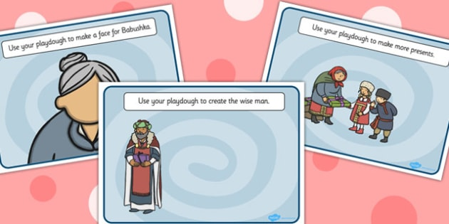 Babushka Playdough Mats - playdough mats, babushka, activity