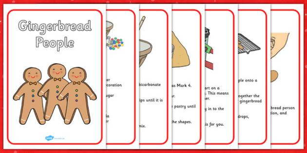 My Gingerbread People Recipe Worksheet - gingerbread, recipe, baking
