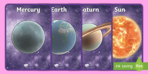 The Planets Display Posters Detailed Images - planets, display, posters