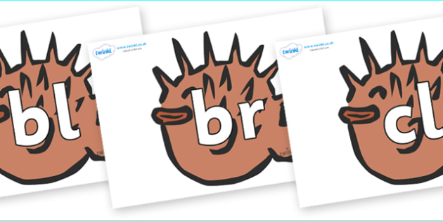 Initial Letter Blends on Puffer Fish - Initial Letters, initial letter, letter blend, letter blends, consonant, consonants, digraph, trigraph, literacy, alphabet, letters, foundation stage literacy