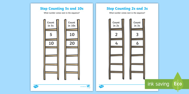 FREE! - Step Counting Worksheet - step counting, counting, worksheets