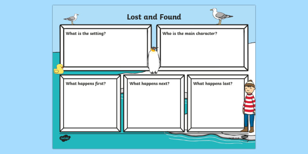 Book Review Writing Frame to Support Teaching on Lost and Found - book review, writing