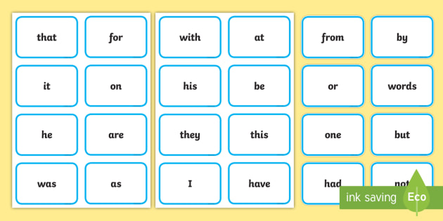 Sight Word Snap Game - Sight word games,Australia, snap, card game, card