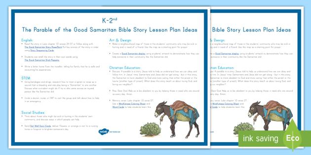 The Parable Of The Good Samaritan Teaching Ideas Bible Jesus New