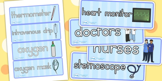 Doctors Surgery Labels - doctors role play, prop, roleplay, label