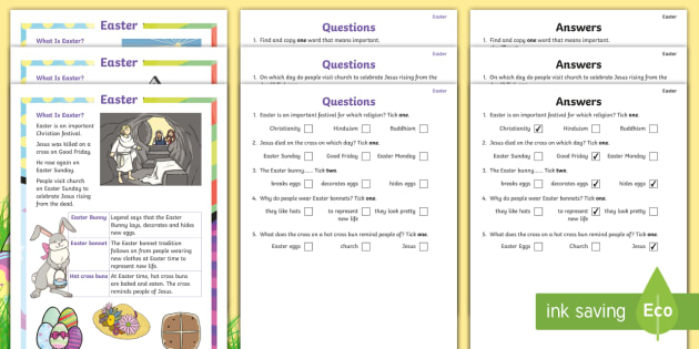 Easter differentiated reading comprehension activity ks1 easter differentiated reading comprehension activity ks1 easter year 1 year 2 ibookread Read Online