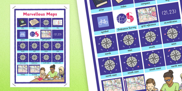 Marvellous Maps Word Grid - marvellous, maps, word grid, word, grid