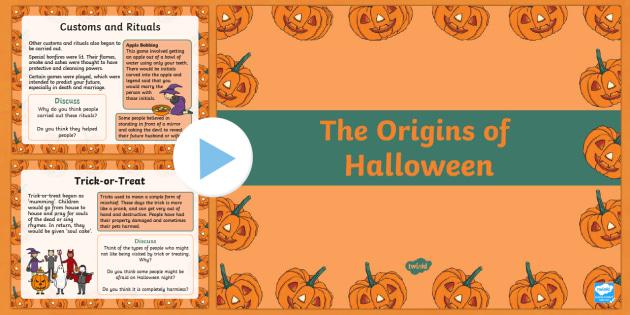 the origins of halloween powerpoint