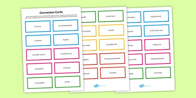 Creative Writing Cards - creative, writing, cards, creative writing, english